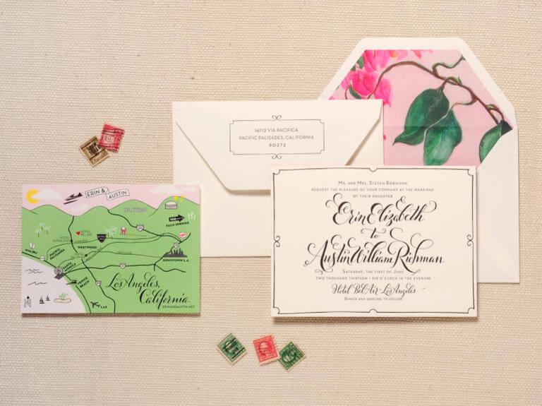 incluir mapa en las invitaciones de boda