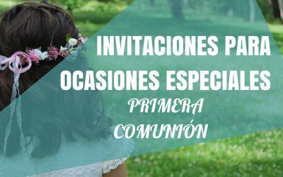 Invitaciones para ocasiones especiales: Primera comunión