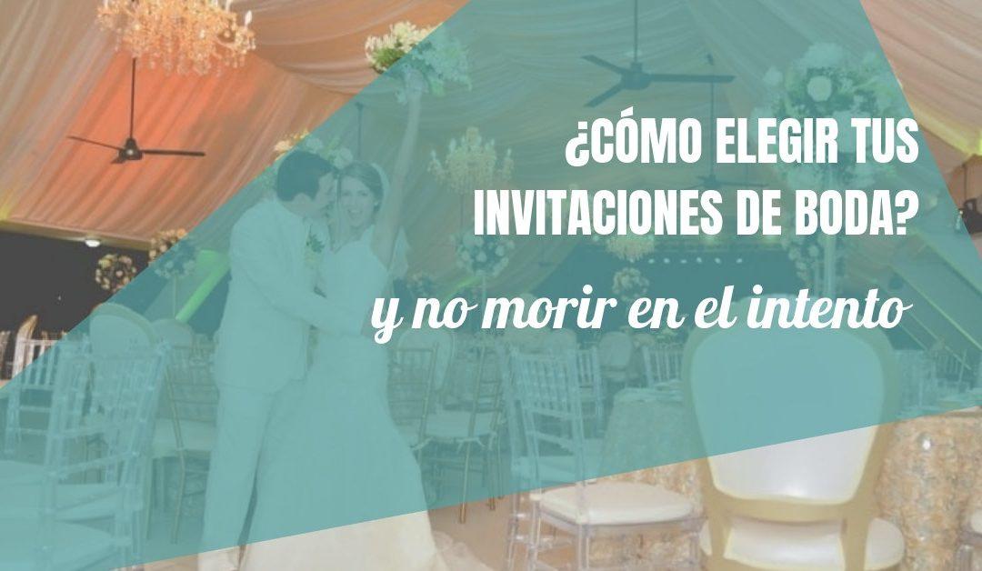 ¿Cómo elegir tus invitaciones de boda originales y no morir en el intento?