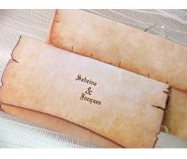 Invitación de boda pergamino