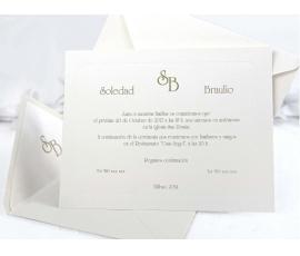 Invitación de boda crema