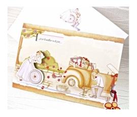 Invitación de boda rueda