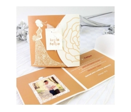 Invitación de boda novia