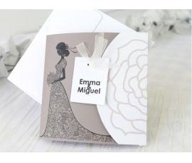 Invitación vestido de novia