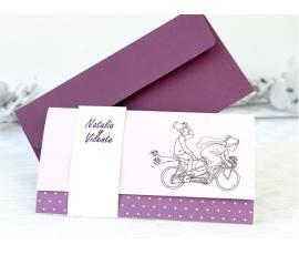 Invitación de boda bici