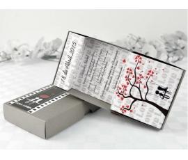Invitación de boda caja árbol