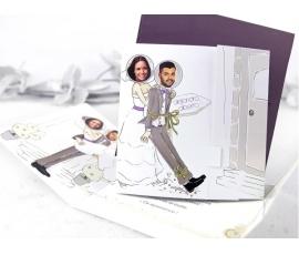 Invitación novia en brazos