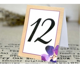 Número de mesa a juego con la invitación 32635