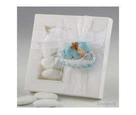 Imán bebé azul