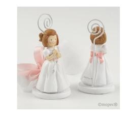 Portafoto niña rosario con 3 peladillas
