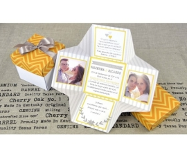 Invitación de boda estilo caja
