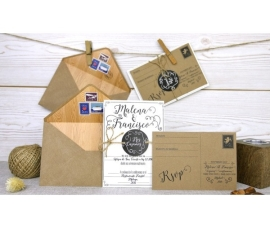 Invitación de boda postal
