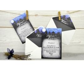 Invitación de boda nocturna