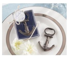 Detalle de boda abridor ancla en caja