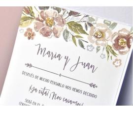 Invitación de boda vintage