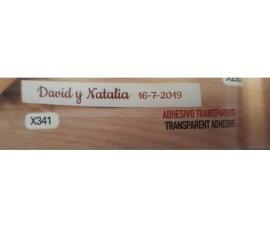 Detalle de boda etiquetas adhesivas transparentes (210 ud)