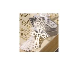 Punto libro cruz con borla en cajita regalo