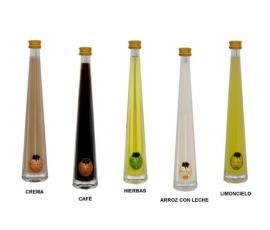 Detalle de boda botella licor mini Irene Villalucia