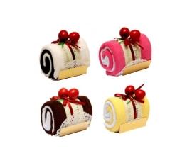 Detalle de boda dulce tronco pastel toalla
