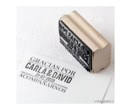 Detalle de boda sello personalizado Gracias por acompañarnos