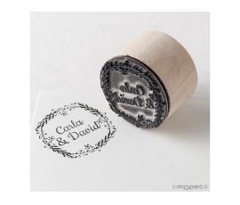 Detalle de boda sello personalizado romántico