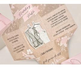 Invitación de boda tipo caja