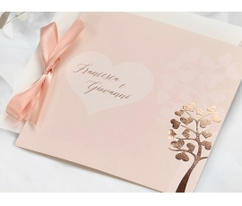 Invitación de boda con forma de árbol BLUSH