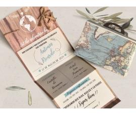 invitacion de boda travel