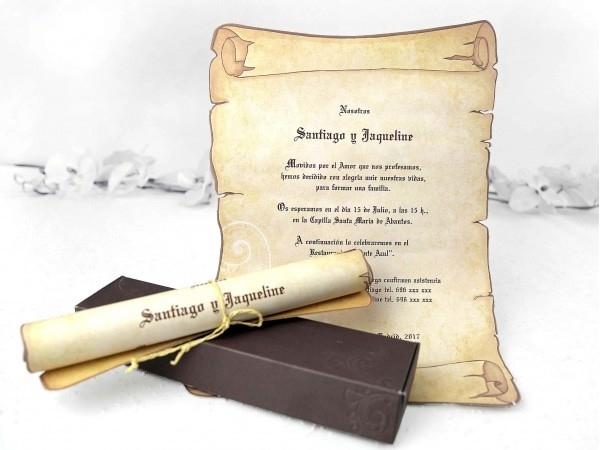 Invitación pergamino sin sello