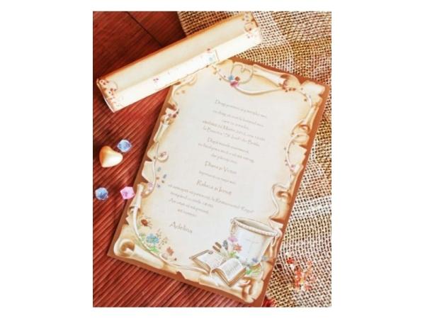 Invitación de Bautizo papiro