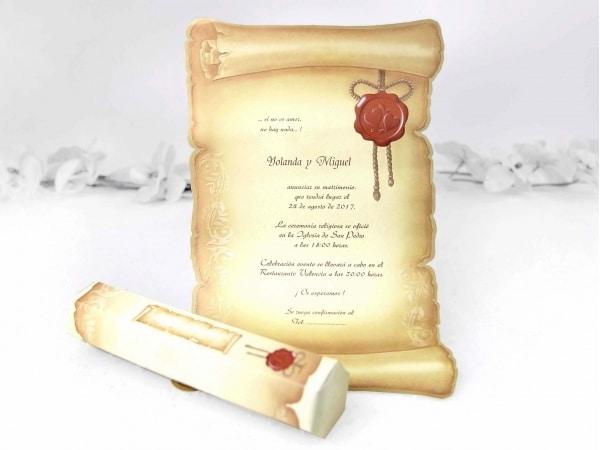 Invitación pergamino II sin sello