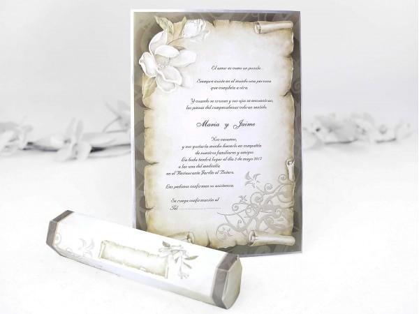 Invitación pergamino III