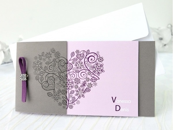 Invitación de boda corazón