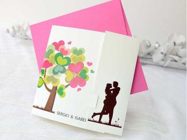 Invitación de boda árbol