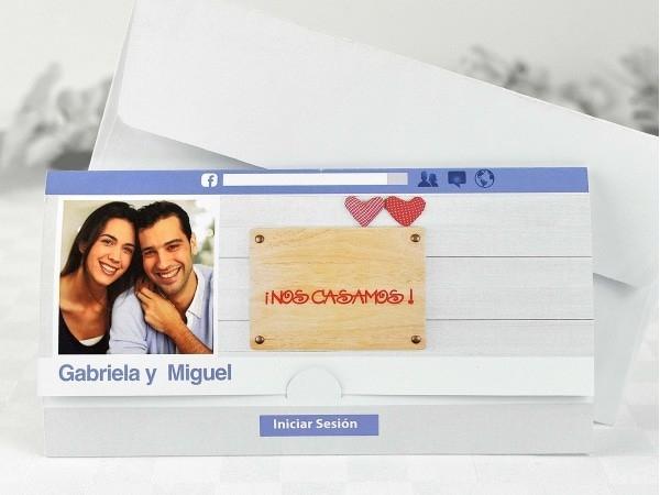 Invitación de boda Facebook
