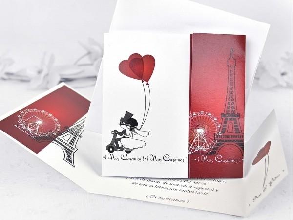 Invitación de boda París