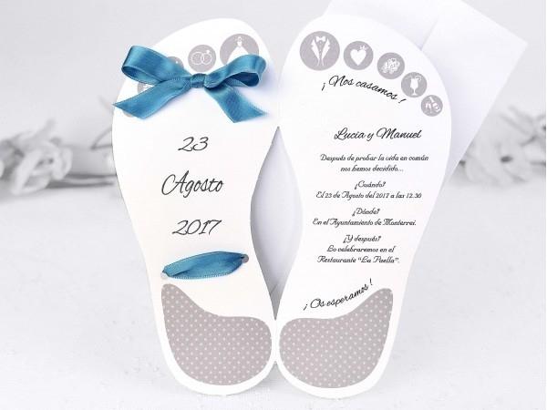 Invitación sandalia