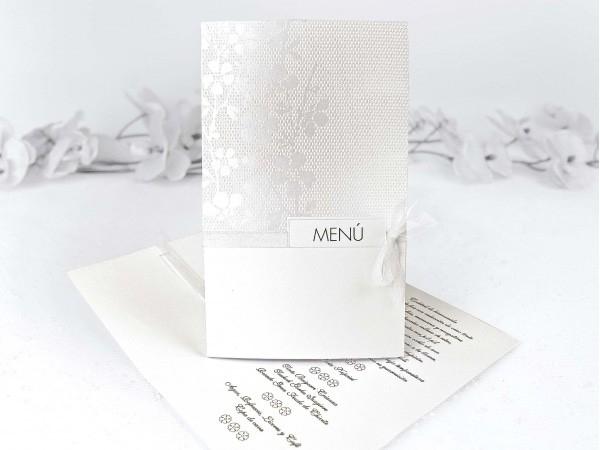 Menú de boda a juego con invitación 39102