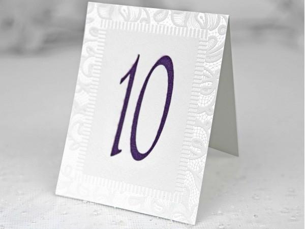 Número de mesa a juego con la invitación 39117