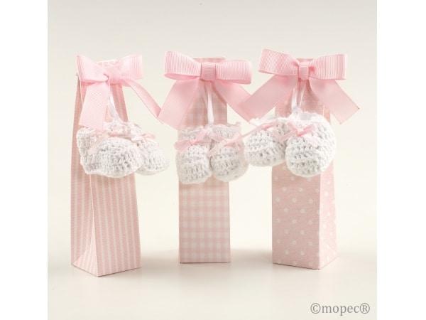Par de botitas rosa