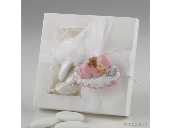 Imán bebé rosa