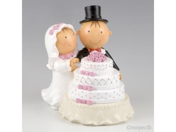 Detalle de boda figura para tarta Pit & Pita