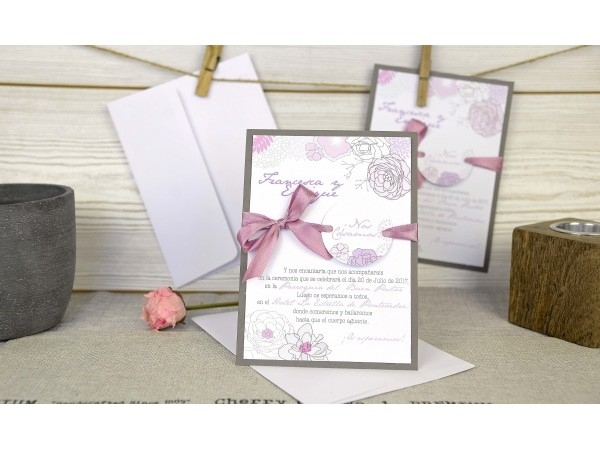 Invitación de boda bonita