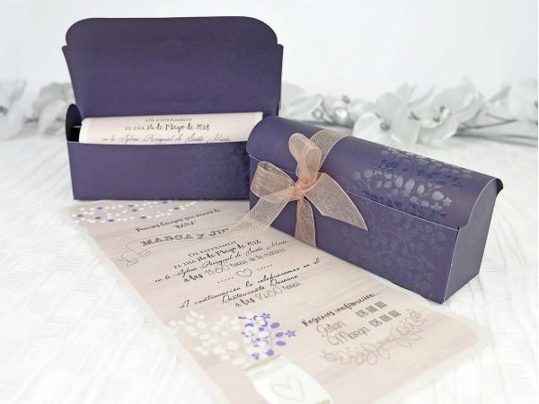 Invitación de boda cofre