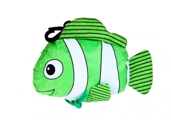 Detalle de boda bolsa plegable pez con cajita y lazo