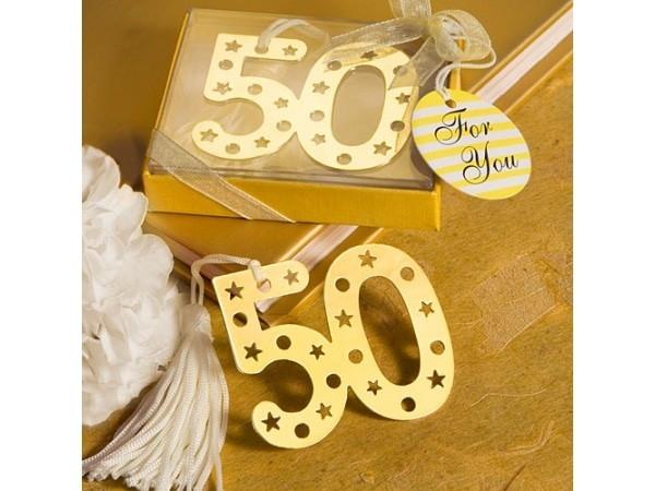 Elegante punto de libro 50 aniversario