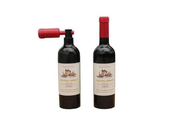Abrebotellas en forma botella de vino en caja regalo