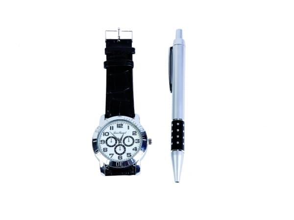 Reloj hombre en caja de regalo + bolígrafo