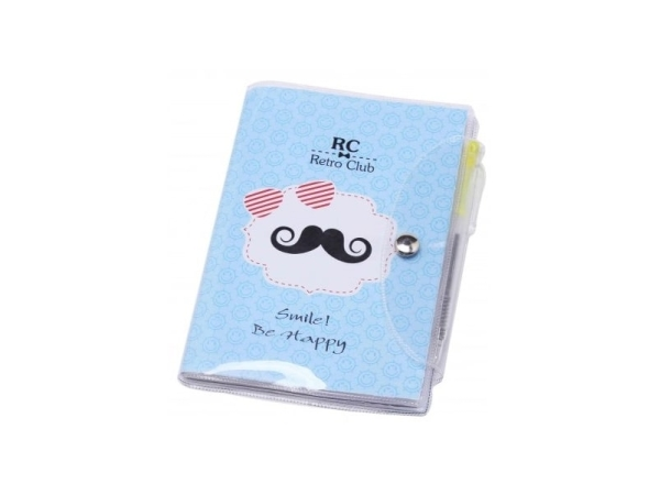 Detalle de boda libreta notas pvc bigote + bolígrafo