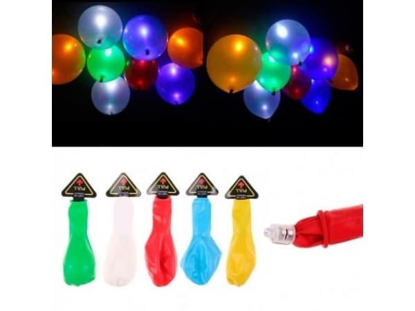 Set 50 globos led colores surtidos